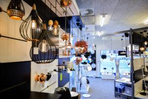 Lampe butik Vinderup, Hjerm, Lemvig, Thyholm i Struer